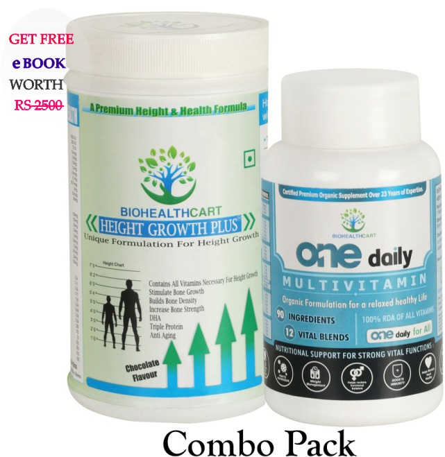 Height Growth Plus , One Daily Multivitamin- Combo pack